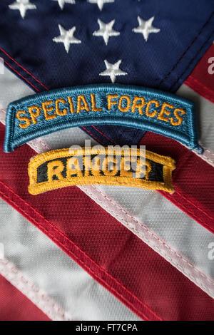 U.S. Army Insignia Still Life - Stock Photo