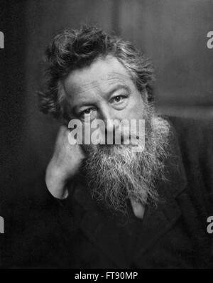 William Morris (1834-1896). Portrait  of the 19th century British textile designer, poet, novelist, translator, - Stock Photo