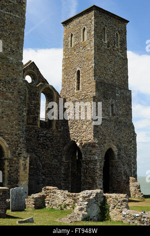 Reculver church - Stock Photo