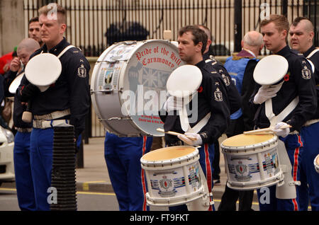 London, UK, 26 March 2016, Lord Carson 1916 Easter Irish Unionist uprising parade down Whitehall to lay wreaths - Stock Photo