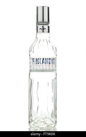Finlandia vodka isolated on white background. Stock Photo
