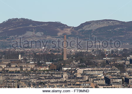 Cox's stack chimney Lochee Dundee Scotland  March 2016 - Stock Photo