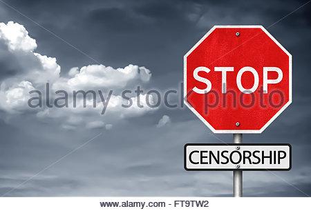 Stop Censorship - Stock Photo