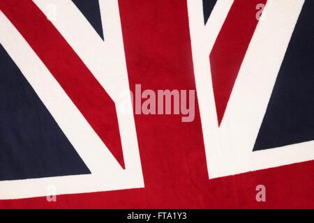 Union Jack flag pattern UK - Stock Photo