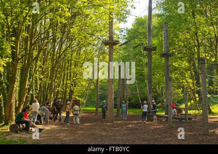 BRD, Deutschland, NRW, Rhein-Kreis Neuss, Grevenbroich, Aldenhoven, Schloss Dyck, Schlosspark - Stock Photo