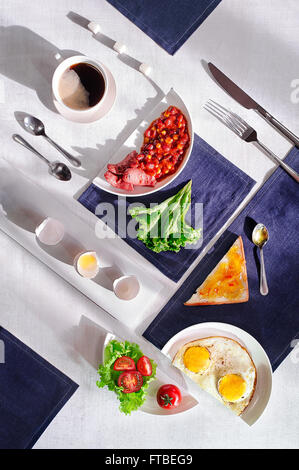 Suprematic meal: English breakfast - Stock Photo