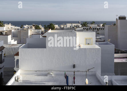 ... A White Roofs View From A House Of Carboneras Village, Almeria  Province, Spain