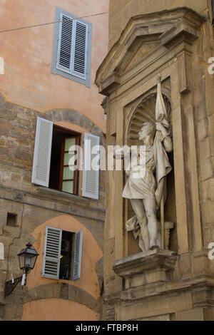 Statue of Michele di Lando, Loggia del Mercato Nuovo, Florence, Italy. - Stock Photo