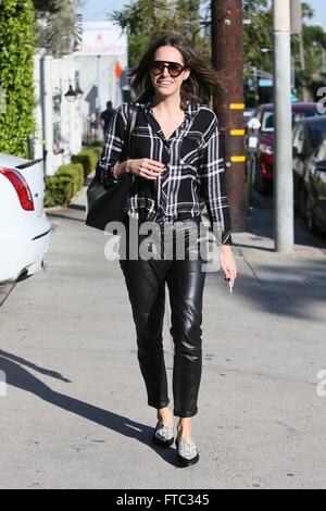 Louise Roe seen going to Verve Cafe  Featuring: Louise Roe Where: Los Angeles, California, United States When: 25 - Stock Photo