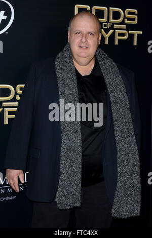 Gods Of Egypt New York Premiere - Red Carpet Arrivals  Featuring: Alex Proyas Where: New York, New York, United - Stock Photo