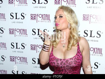 Las Vegas, NV, USA. 26th Mar, 2016. Coco Austin at arrivals for Coco Austin's Birthday Party, Foxtail Nightclub - Stock Photo