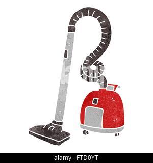 freehand retro cartoon vacuum cleaner - Stock Photo