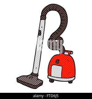 freehand drawn cartoon vacuum cleaner - Stock Photo