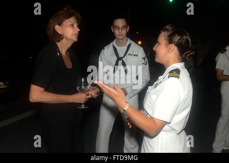 150304-N-RB579-245 LUANDA, Angola (March 4, 2015) Ambassador Helen Meagher La Lime, U.S. ambassador to the Republic - Stock Photo