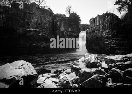High Force Waterfall, Middleton-in-Teesdale - Stock Photo