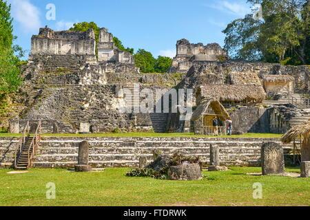 Ancient Maya Ruins, Tikal National Park, Guatemala, Yucatan, UNESCO - Stock Photo