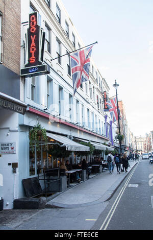 Sam and Eddie Hart's Quo Vadis restaurant on Dean Street in London's Soho, UK - Stock Photo