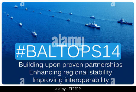 BALTOPS aims to enhance multinational maritime capabilities and interoperability, while improving involvement in - Stock Photo