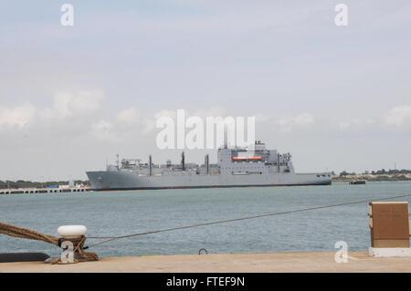150504-N-VJ282-212 NAVAL STATION ROTA, Spain (May 4, 2015) Military Sealift Command dry cargo ship, USNS Medgar - Stock Photo