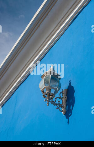 Antique street latern in Cartagena de Indias - Stock Photo