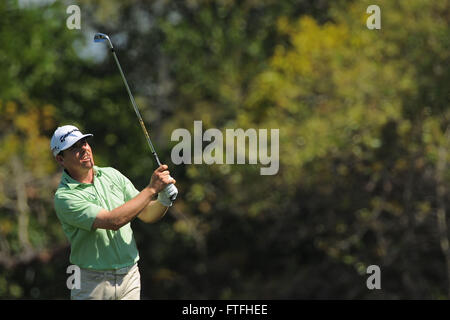 Palm Harbor, Fla, USA. 17th Mar, 2012. Justin Leonard during the third round of the Transitions Chapionship on the - Stock Photo