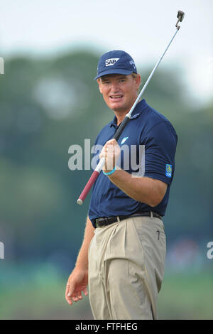 Palm Beach Gardens, Fla, USA. 1st Mar, 2012. Ernie Els during the first round of the Honda Classic at PGA National - Stock Photo