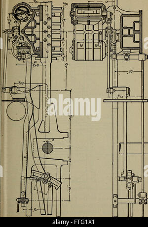 Cyclopedia of locomotive engineering, with examination questions and answers; a practical manual on the construction - Stock Photo