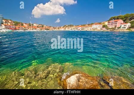 Coast of Sali on Dugi Otok island, Croatia - Stock Photo
