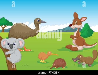 Animals in Australian Outback - Stock Photo