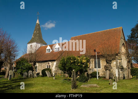 Horndon on the Hill Essex.  Parish church St Peter and St Paul. HOMER SYKES - Stock Photo