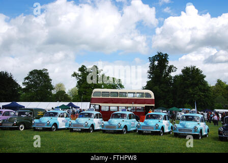 vintage police Minors at Morris Centenary celebrations at Cornbury Park, Charlbury Oxford, United Kingdom - Stock Photo