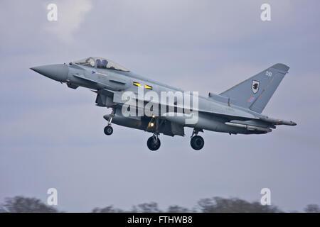 Eurofighter Typhoon, No.XI(F) Squadron, RAF - Stock Photo