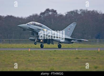 Eurofighter Typhoon No.XI(F) Squadron RAF - Stock Photo