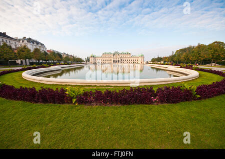 Beautiful view on Schoenbrunn palace in Vienna, Austria. - Stock Photo