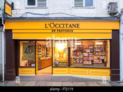 L'Occitane perfumery shop in a British high street - Stock Photo
