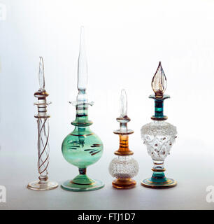 Egyptian perfume / scent bottles with droppers - Stock Photo