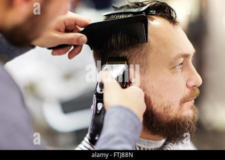 Client of barbershop - Stock Photo