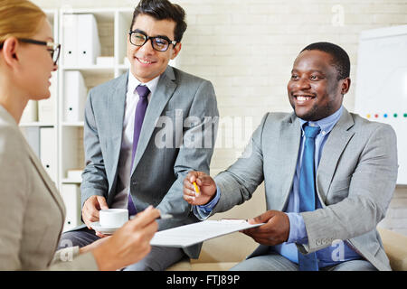 Offering to sign contract - Stock Photo