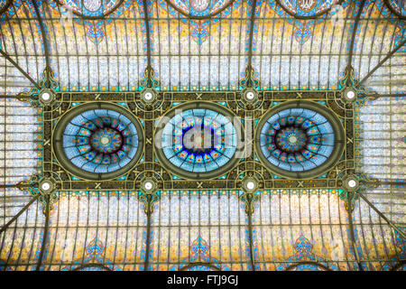 Gran Hotel de la Ciudad de Mexico Ceiling - Stock Photo