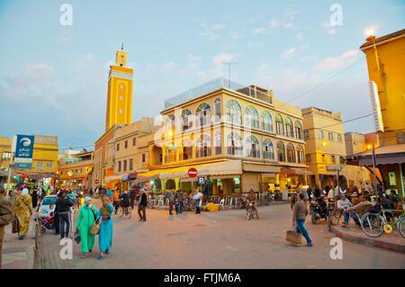 Place al-Alaouyine, Place Assarag, Medina, Taroudant, Souss valley, southern Morocco, northern Africa - Stock Photo