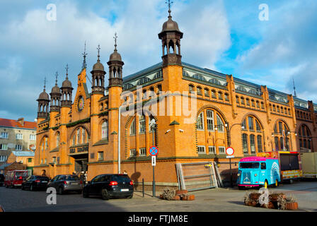 Hala Targowa, Market hall, Glowne Miasto, main town, Gdansk, Pomerania, Poland - Stock Photo
