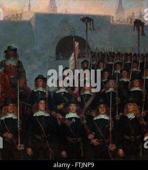 Kristian Zahrtmann - Students leave to defend Copenhagen in 1658 -  The Hirschsprung Collection - Stock Photo