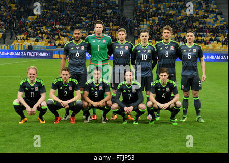 Ukraine vs. Wales. UEFA friendly game - Stock Photo