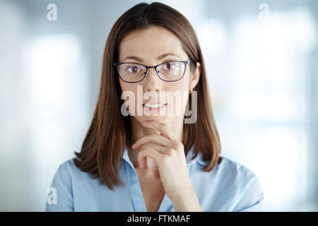 Woman in eyeglasses - Stock Photo