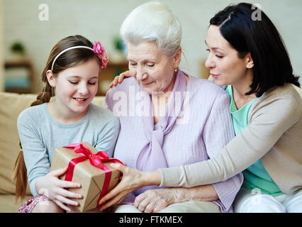 Present for girl - Stock Photo