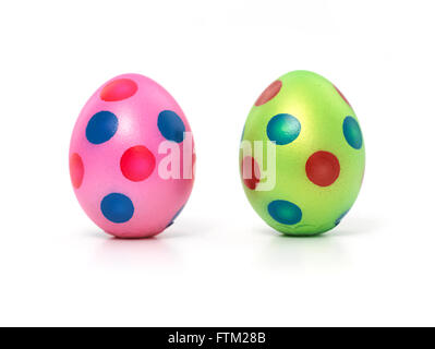 2 Easter eggs - Stock Photo