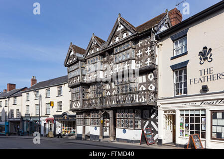 Feathers Hotel, Ludlow, Shropshire, England, UK - Stock Photo