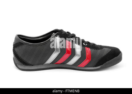 casual black shoe - Stock Photo