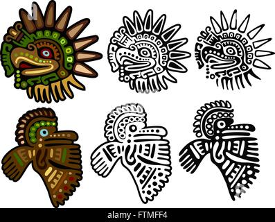 aztec or mayan eagle deity a symbol of strength patience