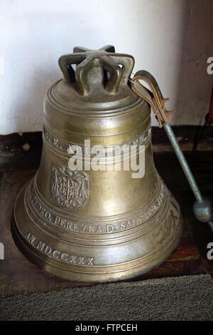 1730 bell of the Church of Nossa Senhora da Conceicao - Church of Sabara - Stock Photo